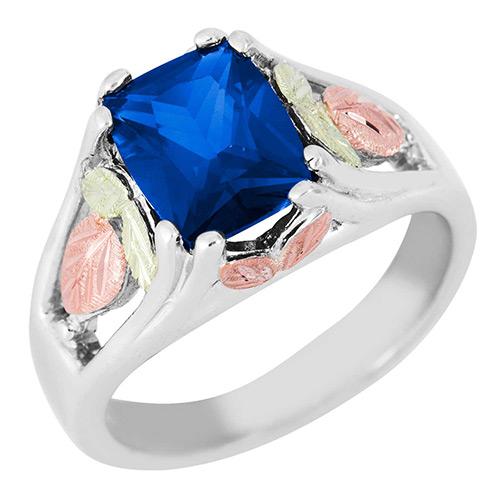 Blue Spinel Black Hills Silver Ring