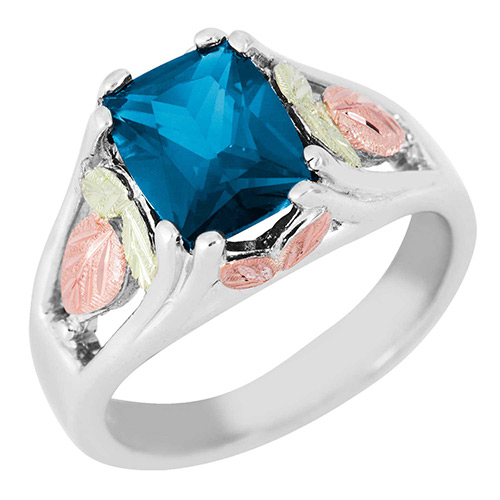 Blue Zircon Black Hills Silver Ring