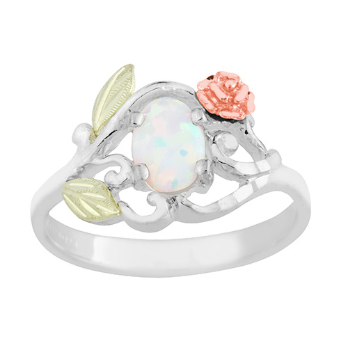 Opal Ring with Rose