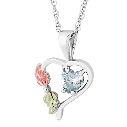 Heart Pendant with April Birthstone