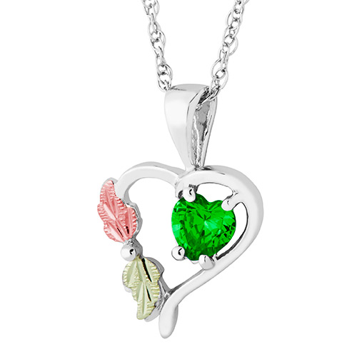 Heart Pendant with May Birthstone