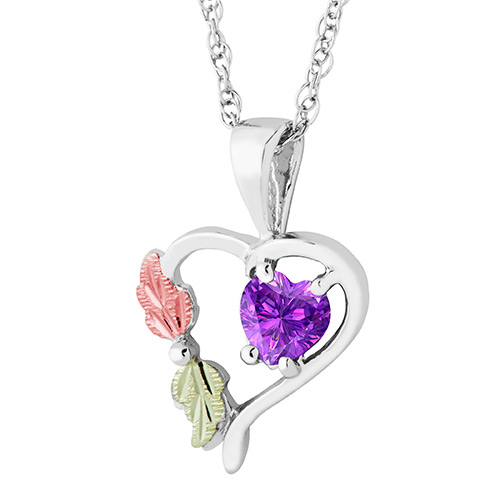 Heart Pendant with June Birthstone