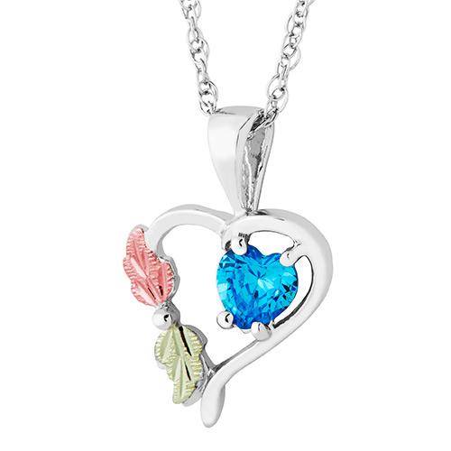 Heart Pendant with December Birthstone