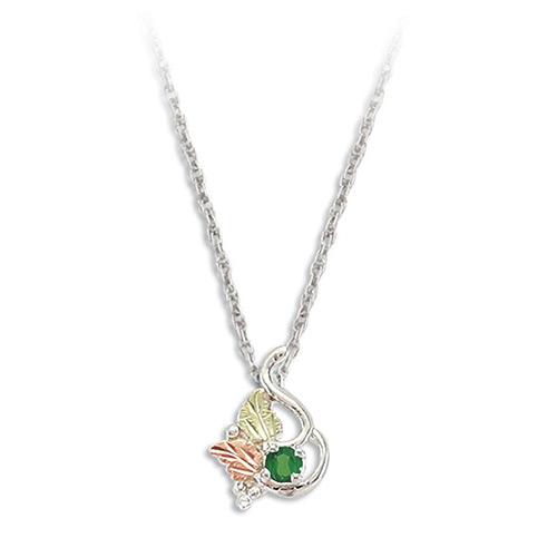 Emerald Silver Necklace