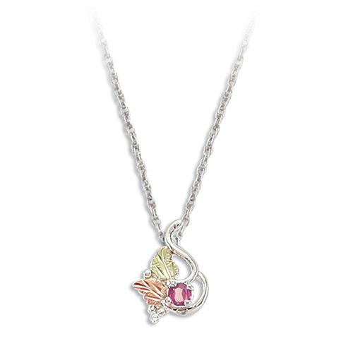 Rose Zircon Silver Necklace