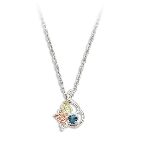 Blue Zircon Silver Necklace
