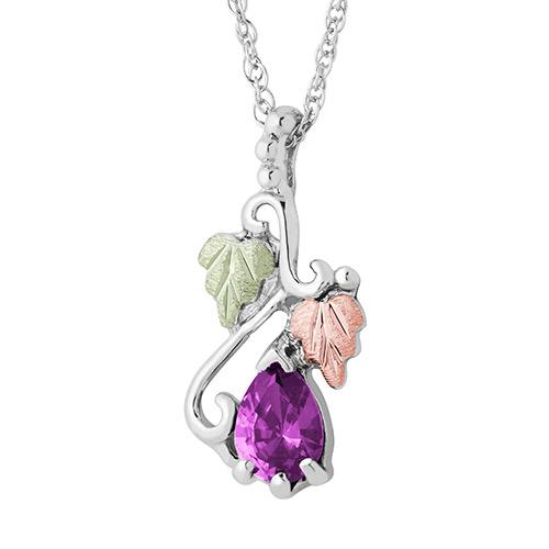 Silver Alexandrite Necklace