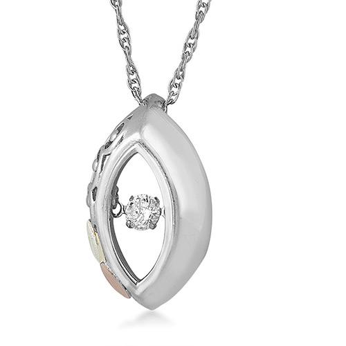 Black Hills Silver Diamond Pendant from Landstroms...