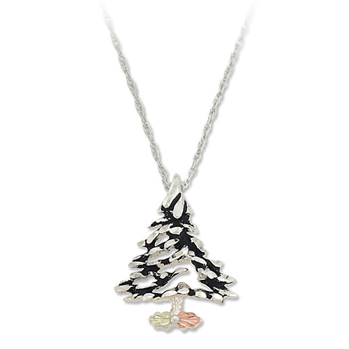 Landstroms Black Hills Gold Christmas Tree Pendant