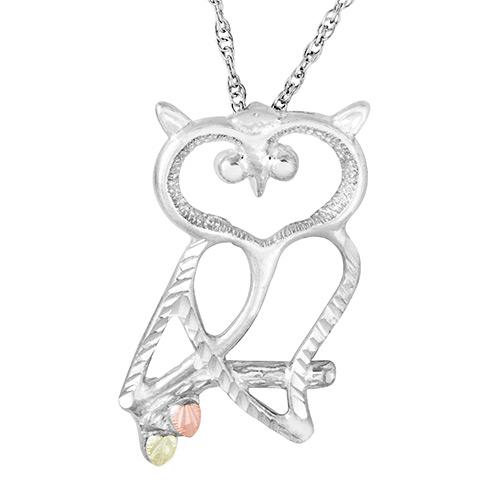 Black Hills Silver Owl Necklace