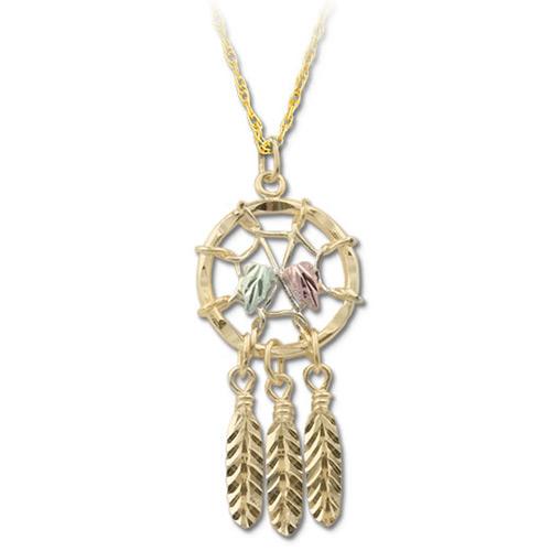 Black Hills Gold 10k Dreamcatcher Pendant Necklace