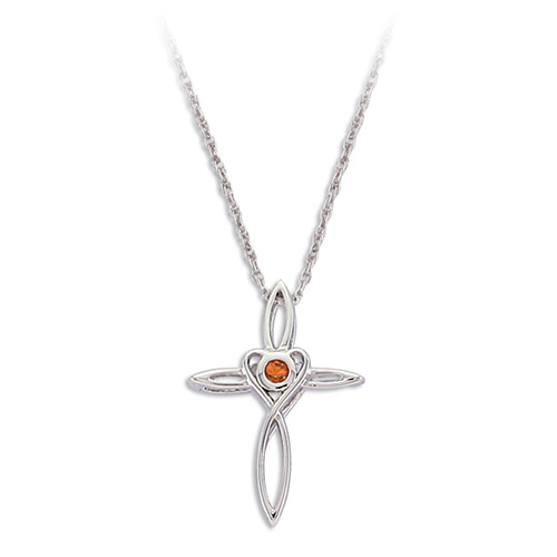 Orange Montana Sapphire Cross